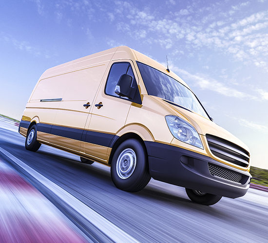 A van in transit - R Collins & Co Insurance Brokers